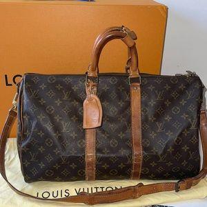 Authentic Louis Vuitton keepall 45 bandolier bag